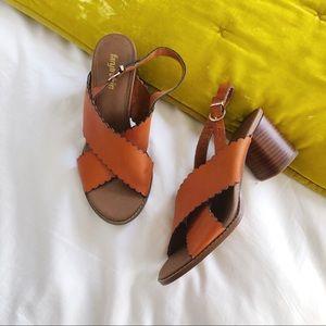 Anthropologie Farylrobin Leather Block Heels